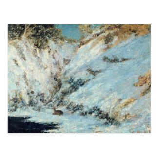 Snowy Landscape, 1866 Postcard