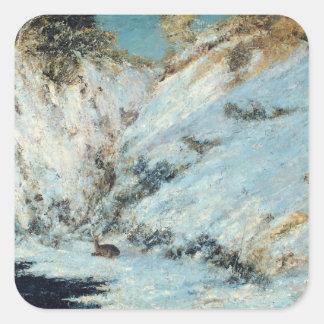 Snowy Landscape, 1866 Square Sticker