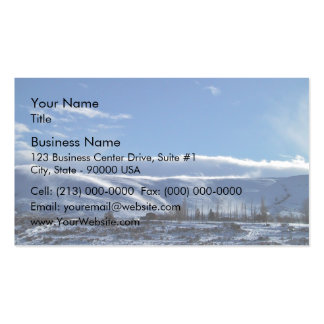 Snowy Landscape and blue skies Business Card Template