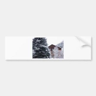 snowy landscape car bumper sticker