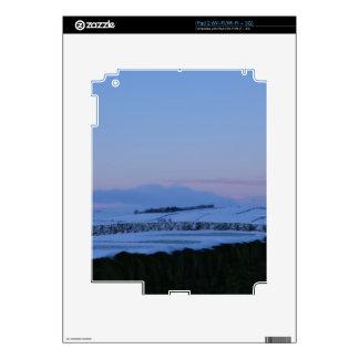Snowy Landscape In Yorkshire At Dawn iPad 2 Skins
