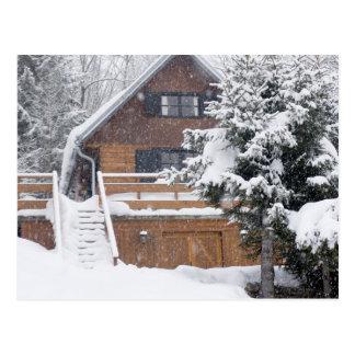 snowy landscape postcards