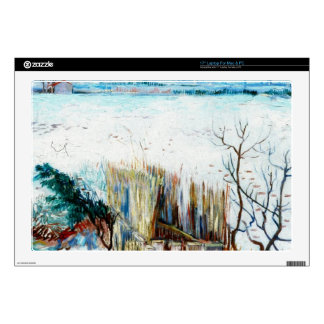 """Snowy Landscape with Arles in the Background Decal For 17"""" Laptop"""