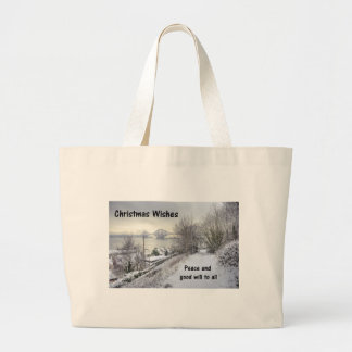 Snowy Lane Tote Bags