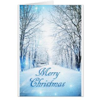 Snowy Lane Christmas Card