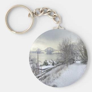 Snowy Lane Keychain