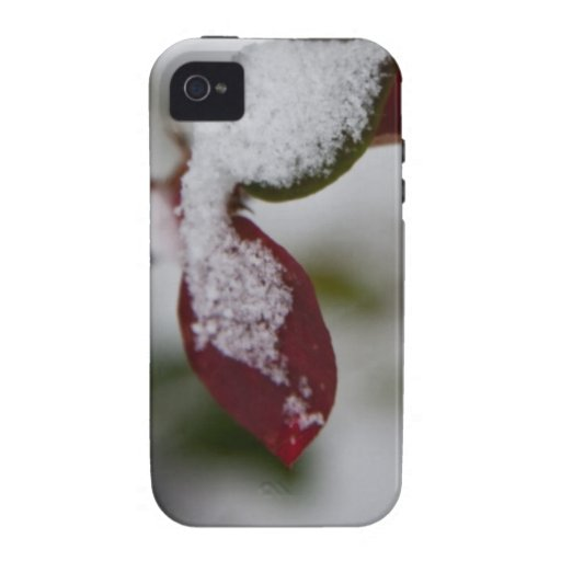 Snowy leaves Case-Mate iPhone 4 cover