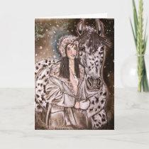 Snowy Leopard Appaloosa Christmas Cards