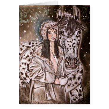 Christmas Themed Snowy Leopard Appaloosa Christmas Cards