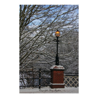 Snowy Light Scene Print Print