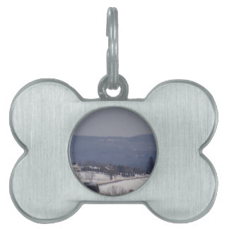 Snowy little back country road pet name tags