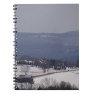 Snowy little back country road spiral notebook