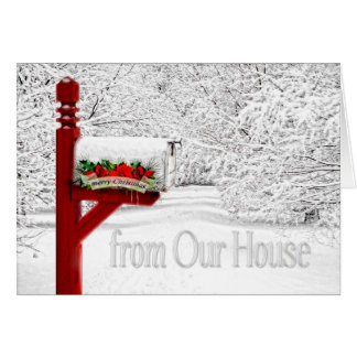 Snowy Mailbox | From Our to House Christmas Card
