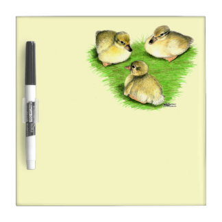 Snowy Mallard Ducklings Dry-Erase Boards