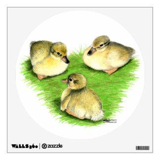 Snowy Mallard Ducklings Wall Sticker