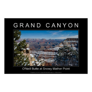 Snowy Mather Point 2864 Black Poster