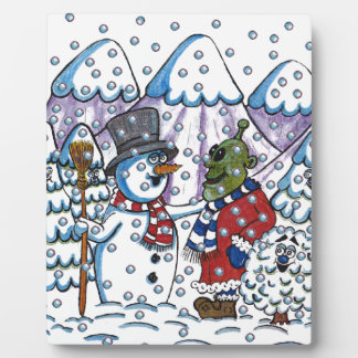 Snowy meets Martin Display Plaques