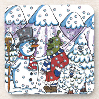 Snowy meets Martin Drink Coaster