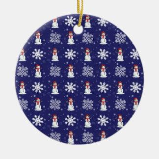 Snowy Men Ceramic Ornament
