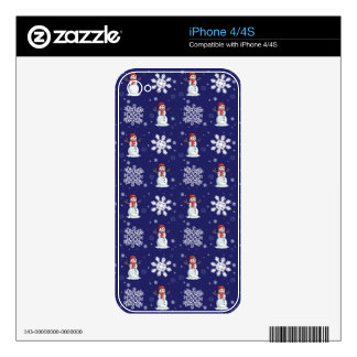 Snowy Men Decals For The iPhone 4S