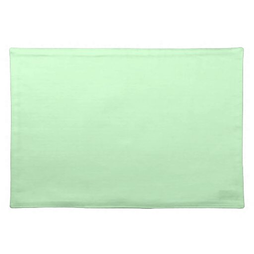Snowy Mint Green Placemats Cloth Place Mat