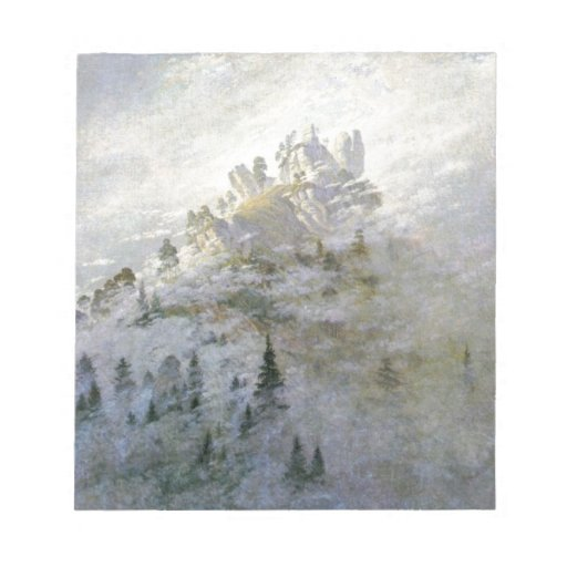 Snowy Mist on the Mountains Memo Notepads