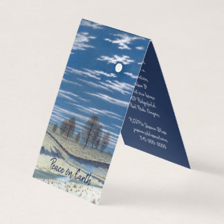 Snowy Moonlit Night Winter Holiday Invitation
