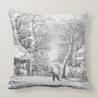 Snowy Morning 1864 Pillow