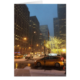 Snowy Morning in Midtown NYC Christmas Xmas Cards