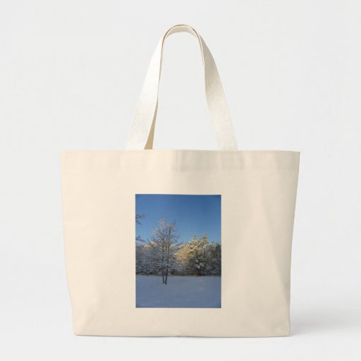 Snowy Morning Large Tote Bag