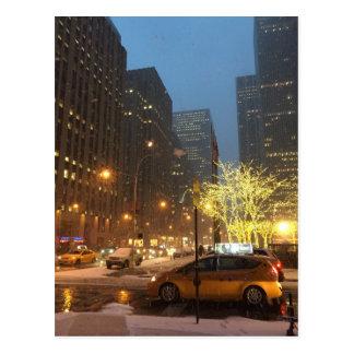 Snowy Morning Rockefeller Center Sixth Avenue NYC Postcard