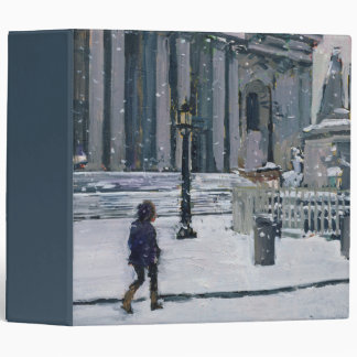 Snowy morning St. Paul's Cathedral 2009 3 Ring Binder