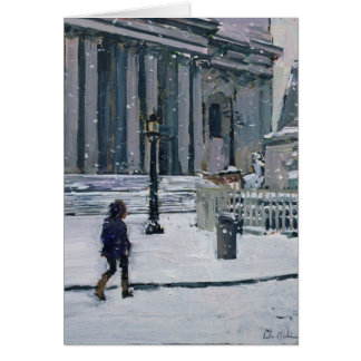 Snowy morning St. Paul's Cathedral 2009 Card