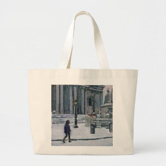 Snowy morning St. Paul's Cathedral 2009 Large Tote Bag