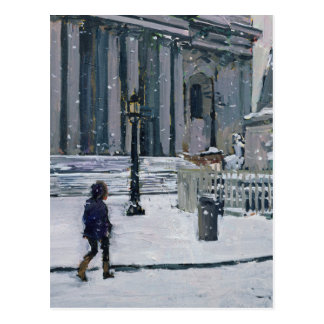 Snowy morning St. Paul's Cathedral 2009 Postcard