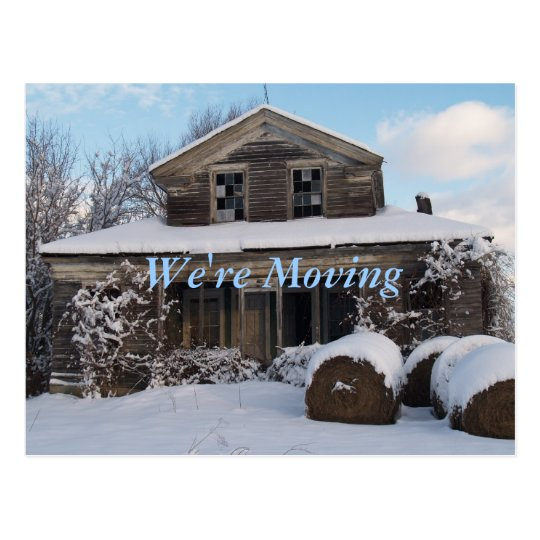 Snowy Morning-We're Moving Postcard