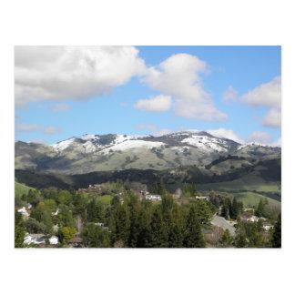 Snowy Mount Diablo Postcard