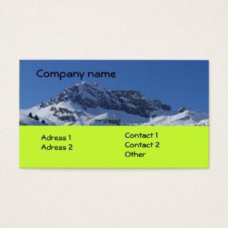 Snowy Mountain Business Card