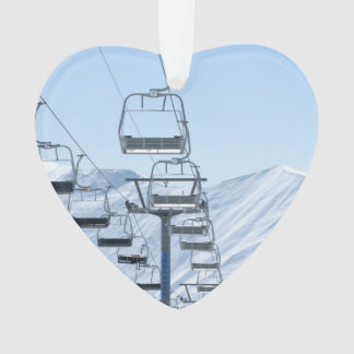 Snowy Mountain Chairlifts
