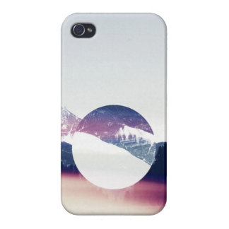 snowy mountain cut-out iPhone 4/4S cases