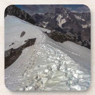 Snowy Mountain Footprints Coaster