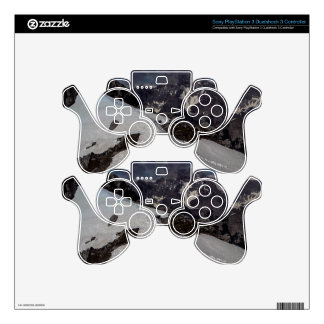 Snowy Mountain Footprints Decal For PS3 Controller