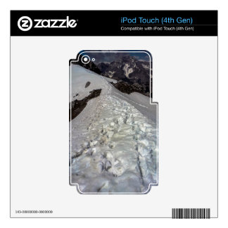 Snowy Mountain Footprints iPod Touch 4G Decals