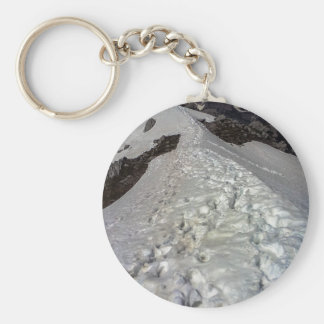 Snowy Mountain Footprints Keychain