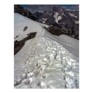 Snowy Mountain Footprints Letterhead