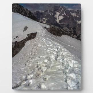 Snowy Mountain Footprints Plaque
