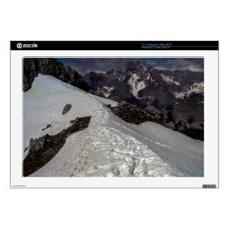 "Snowy Mountain Footprints Skin For 17"" Laptop"