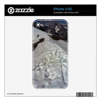 Snowy Mountain Footprints Skin For iPhone 4S