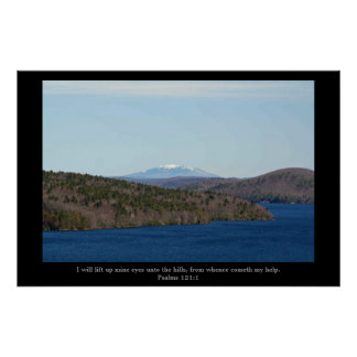 "Snowy Mountain, "" I will lift up my eyes"" poster"