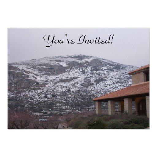 Snowy Mountain Invitation